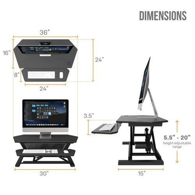 VersaDesk UltraLite Adjustable Standing Desk Converter