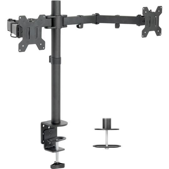 "Vivo 13"" to 27"" Dual Monitor Desk Mount. STAND-V002"