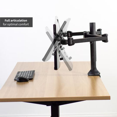 "Vivo 13"" to 38"" Dual Monitor Desk Mount. STAND-V102AM"