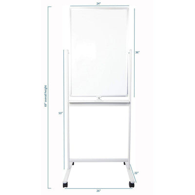 "VIVO 24"" x 36"" Mobile Double Sided Whiteboard CART-WB24A"