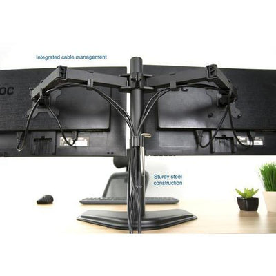 Vivo 360 degree Dual Monitor Desk Stand. STAND-V002F