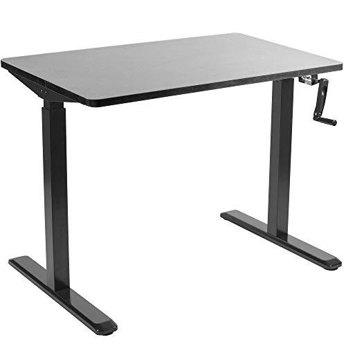 "Vivo 43"" x 24"" Manual Height Adjustable Desk"