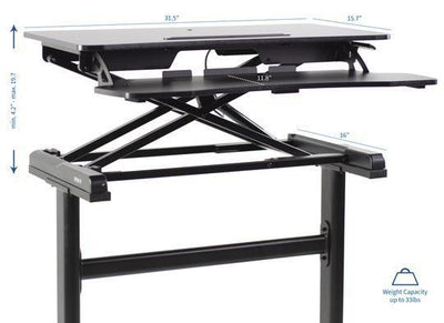 "Vivo Black 30"" Desk Riser with Frame"