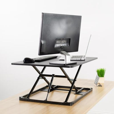 "Vivo Black 31"" Single Top Desk Riser"