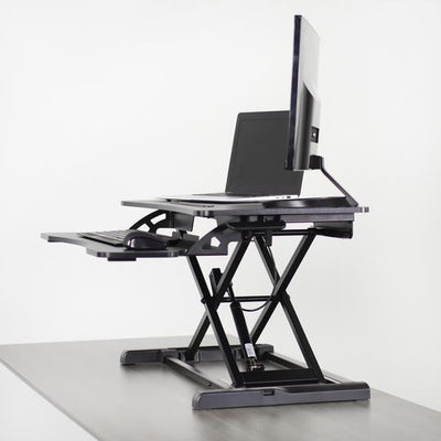 "Vivo Black 32"" Desk Riser Active Standing. DESK-V000K"