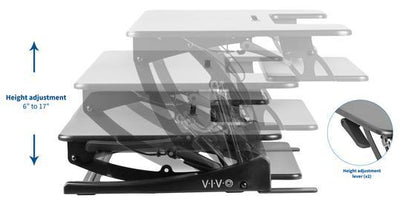 "Vivo Black 42"" Desk Riser. DESK-V000VL"