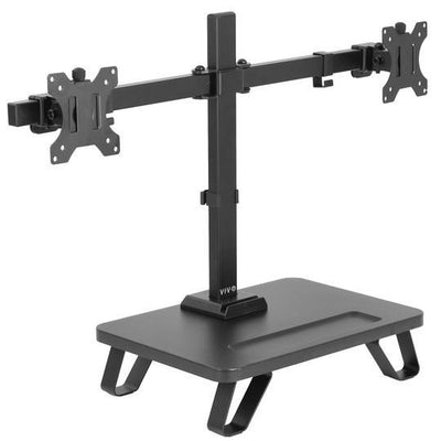 Vivo Dual Monitor Desk Stand with Riser STAND-V102SF