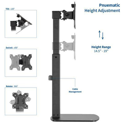 "Vivo Free Standing Single Monitor Mount for 17"" to 32"" Screen STAND-V001V"