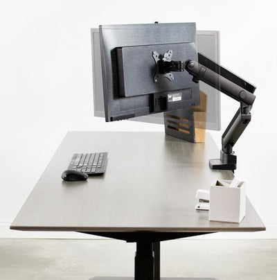 Vivo Pneumatic Arm Dual Monitor Desk Mount STAND-V102BB
