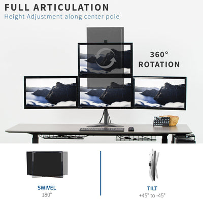 Vivo Quad Monitor Desk Mount STAND-V104B
