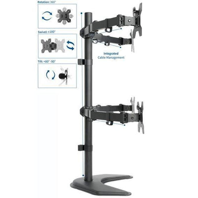 Vivo Quad Monitor Desk Stand STAND-V004F