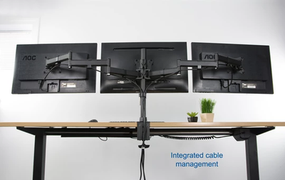 Vivo Triple Monitor Desk Mount STAND-V003M