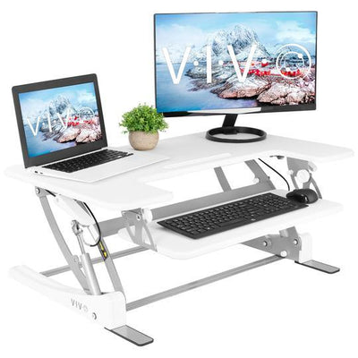 "Vivo White 36"" Desk Riser DESK-V000VW"