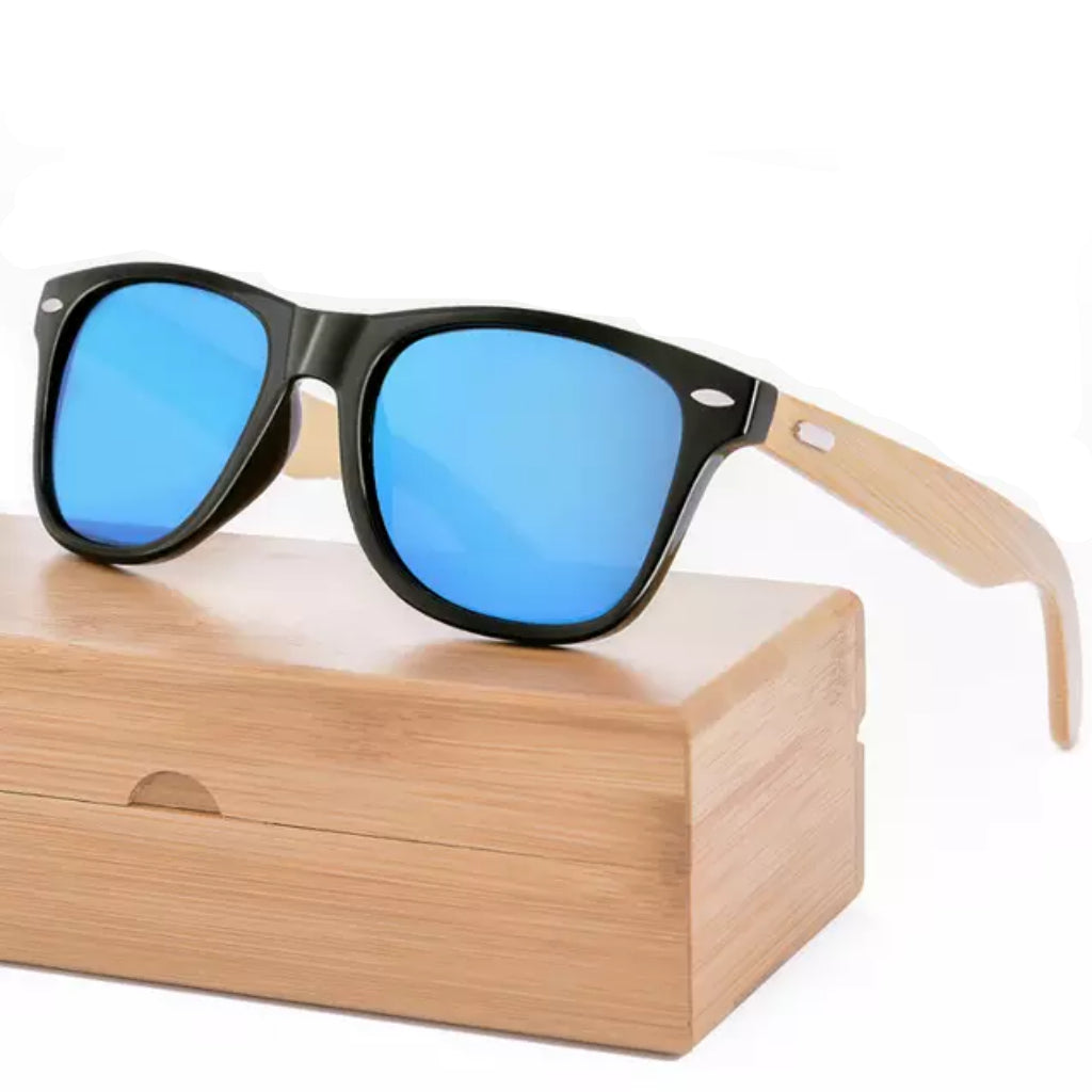 Man Retro Bamboo Sunglasses