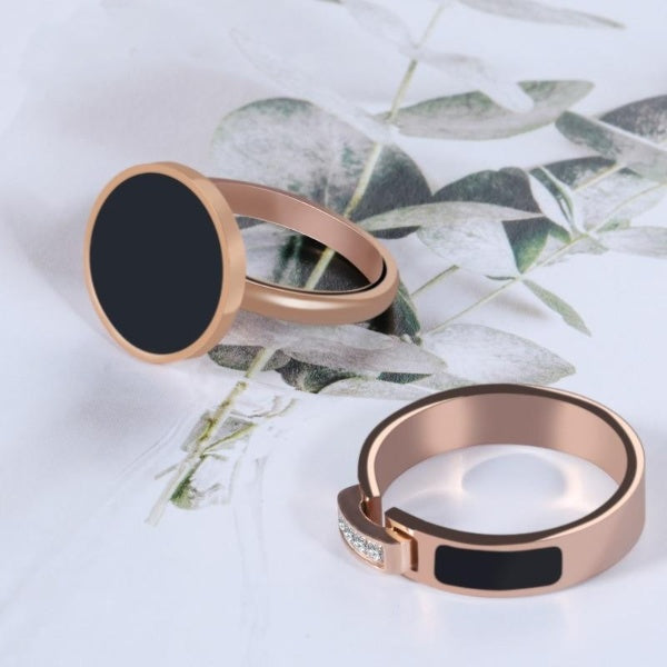 Women Charm Rose Gold Titanium Rings