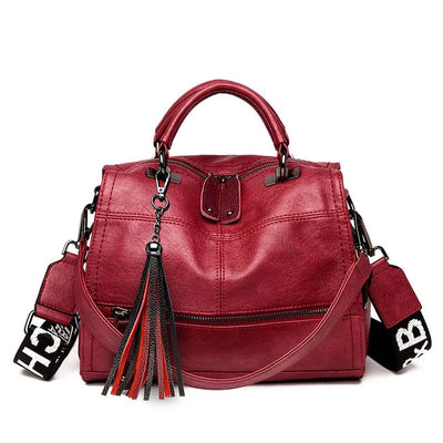 Women's Colored Strap Designer Handbags - Luxury Genuine Leather Bags