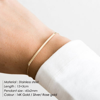 DIY Name Custom Stainless Steel Bracelets - Best Friend Bracelet 2019