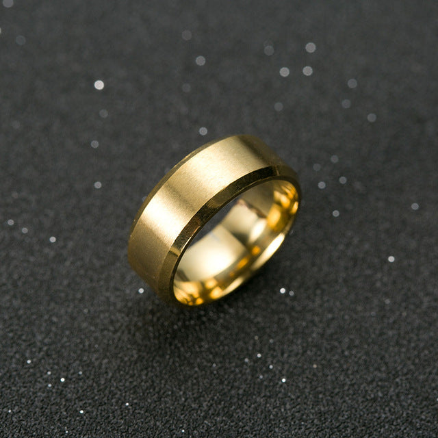 Men Classic Titanium Ring