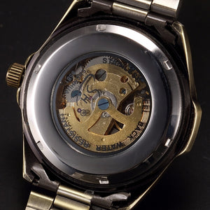 Man Automatic Skeleton Vintage Watch