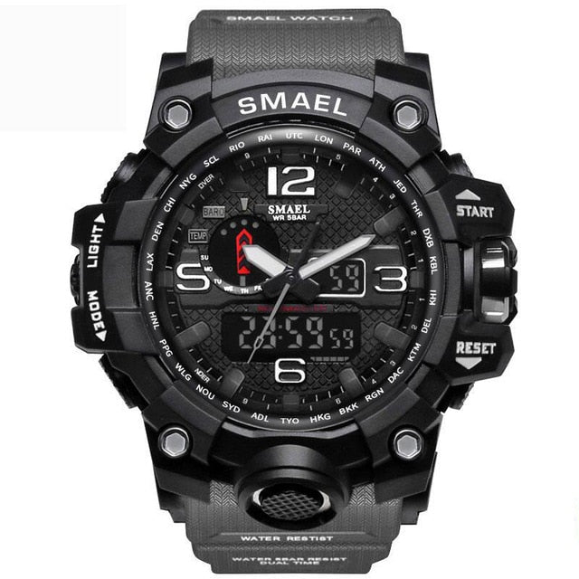 Men's Military Watch - LED Quartz Sport Shock Wristwatch 2019