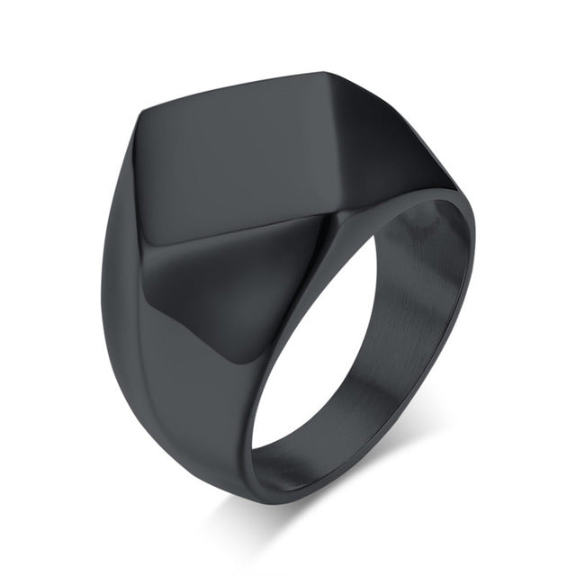 Men Square Metal Ring