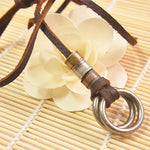 Man Leather Round Necklaces