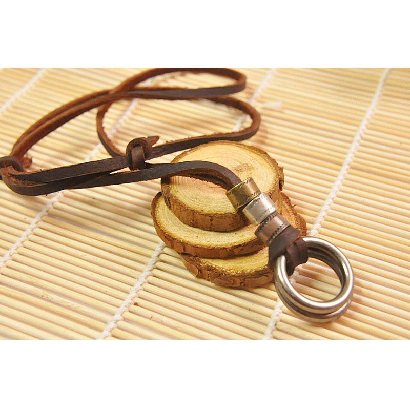 Men Leather Round Necklaces
