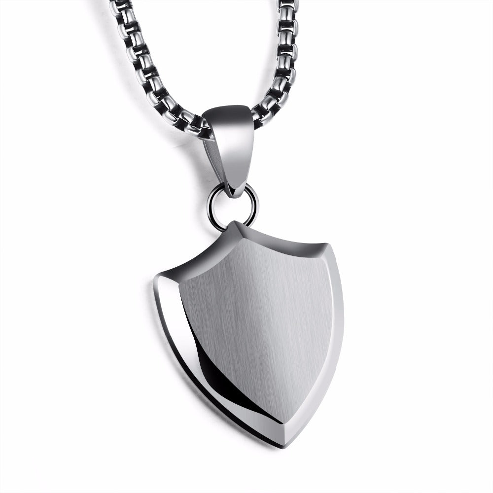 Men Shield Necklace