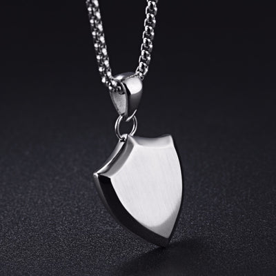 Man Shield Necklace
