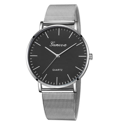 Black Quartz Watch For Women