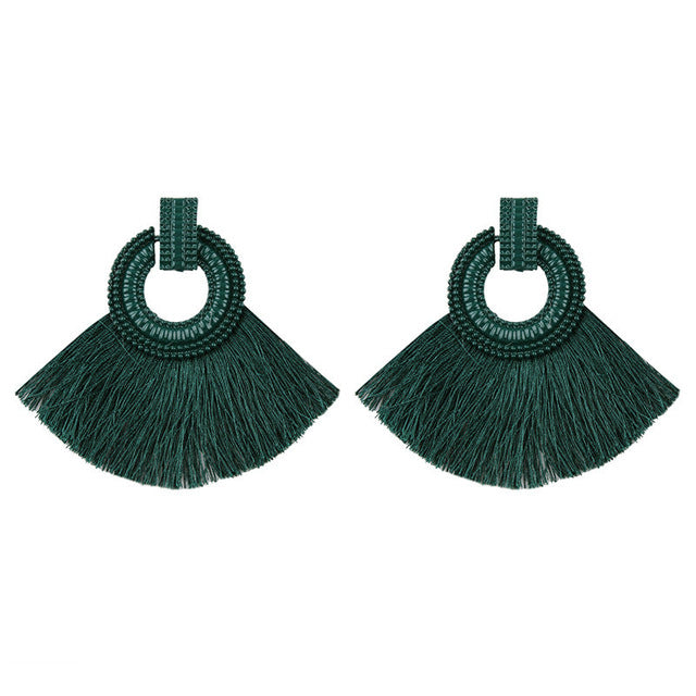 Woman Bohemia Tassel Earrings