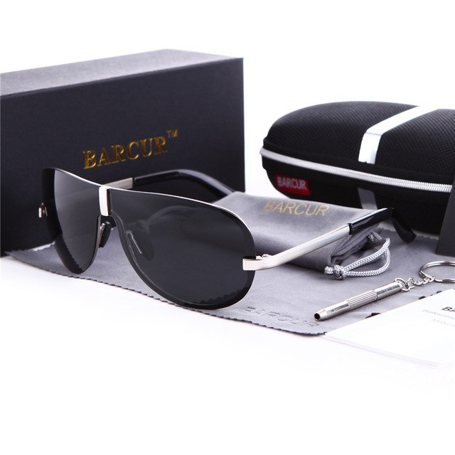 Man Polarized Rimless Sunglasses