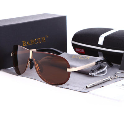 Men Polarized Rimless Sunglasses