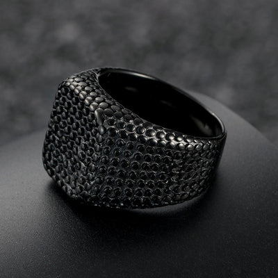 Men Square Punk Ring