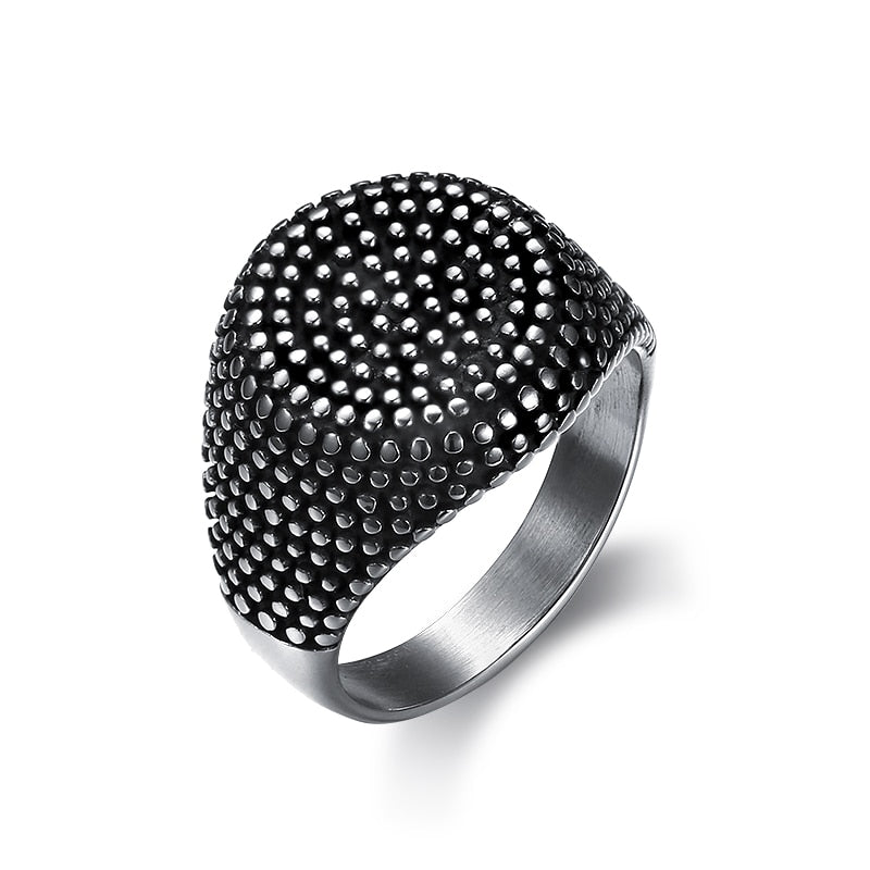Men Round Punk Ring