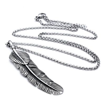 Men Feather Necklace
