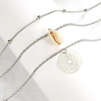 Women Bohemian Multilayer Shell Necklace