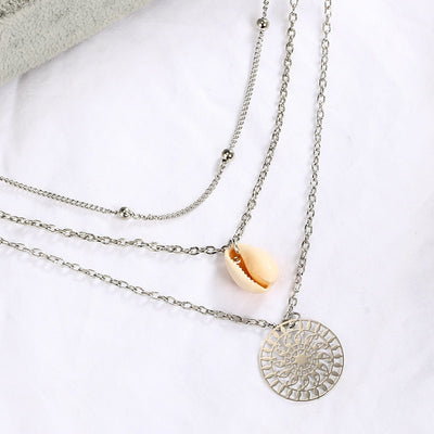 Woman Bohemian Multilayer Shell Necklace
