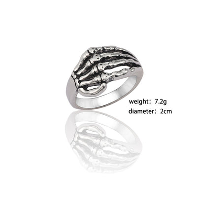 Men Retro Dragon Rabbit Snake Tiger Wolf Rings - Animal Shelton Rings