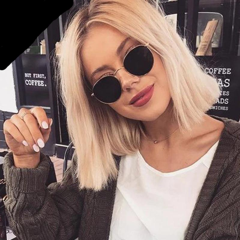 Women Small Frame Round Sunglasses