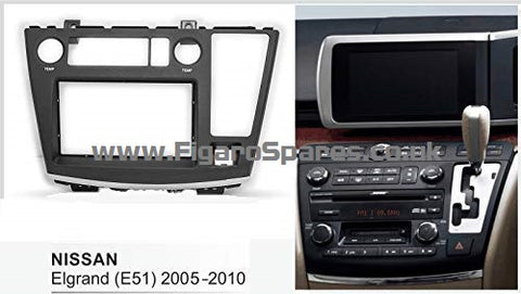 Double Din Car Radio Facia For Nissan Elgrand (E51) 2005-2010