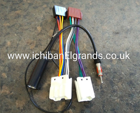 Nissan Elgrand E51 Double Din Radio Wiring PLUG & PLAY Also Works With Bose