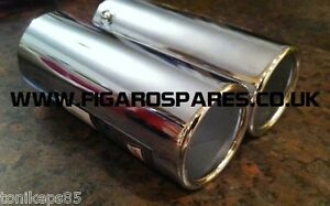 Nissan Figaro Chrome Exhaust Trims