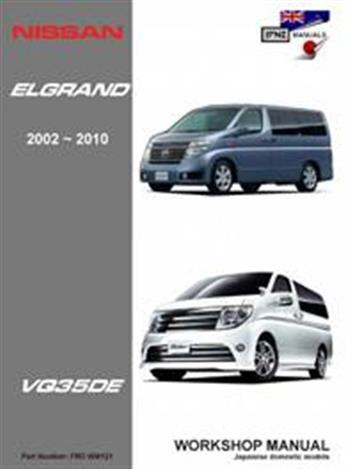 Nissan Elgrand E51 2002 - 2010 Workshop Manual