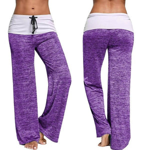 High Waist Wide Leg Fold Over Palazzo Yoga Pants