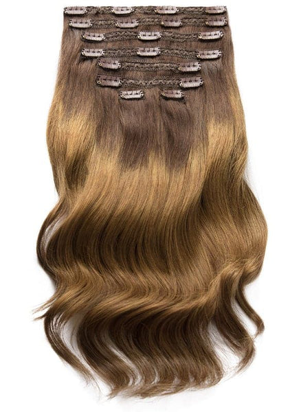 20 Inch Ultimate Volume Clip in Hair Extensions T#02/04 Ombre
