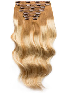 20 Inch Ultimate Volume Clip in Hair Extensions T#08-08/60 Balayage