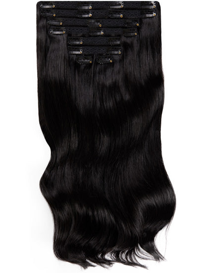 24 Inch Ultimate Volume Clip in Hair Extensions #1 Jet Black