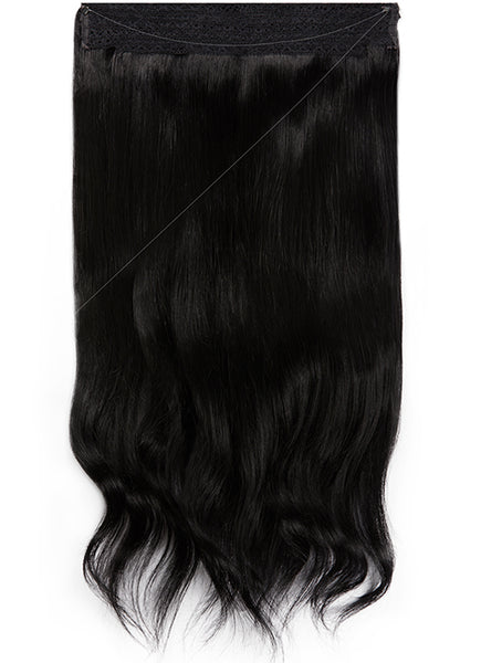 22 Inch Halo Hair Extensions #1 Jet Black