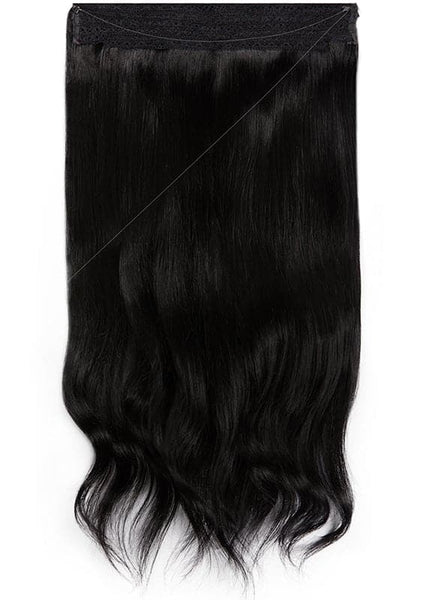 16 Inch Halo Hair Extensions #1 Jet Black